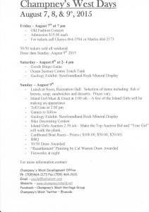 CWD 2015 Schedule